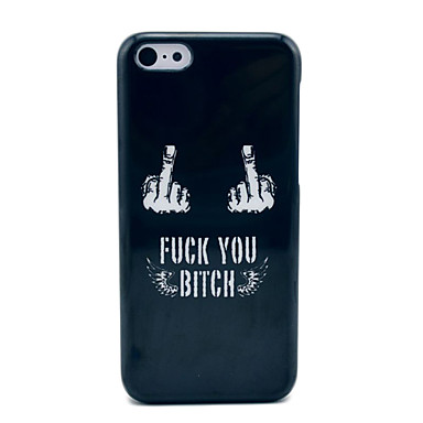 IPhone 5C Siyah Hard Case Fuck Off