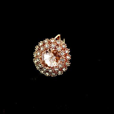 Yüzükler Parti / Günlük Mücevher alaşım / Yapay Elmas Kadın İfadeli Yüzükler8 Altın