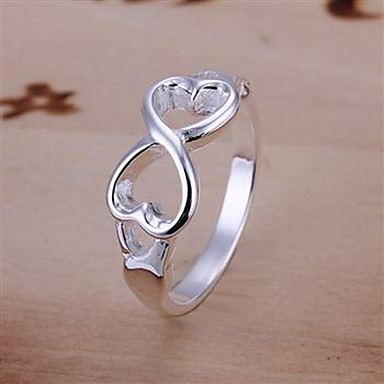 Women's Band Ring Silver Sterling Silver Silver Alloy Cross Fashion Party Daily Costume Jewelry