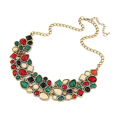 Women's Statement Necklace - Luxury Festival / Holiday Colorful European Jewelry Necklace For Party Anniversary Congratulations Daily