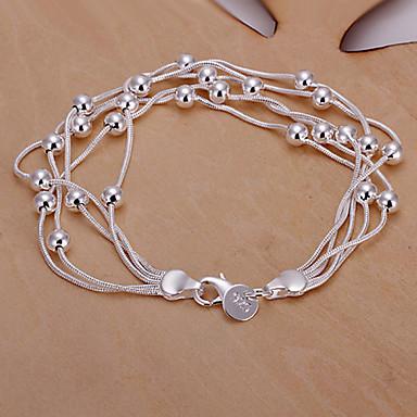 sweet 20cm kadın gümüş bakır zincir ve bağlantı bilezik (gümüş) (1 adet)