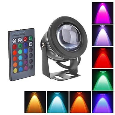 LED Yer Işıkları Sualtı Işıkları 800 lm RGB Su Geçirmez DC 12 V