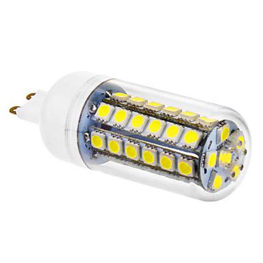 720 lm G9 LED Mısır Işıklar 48 led SMD 5050 Serin Beyaz AC 220-240V