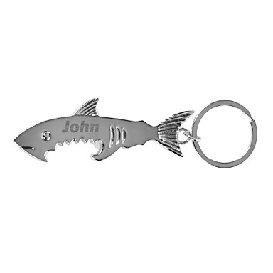Personalized Engraved Gift Creative Shark Shaped Keychain