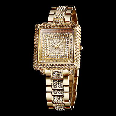 Γυναικεία Πολυτελή Ρολόγια / Ρολόι καλυμμένο με λίθους Μπάντα Ρολόι Καρπού Ασημί / Χρυσό