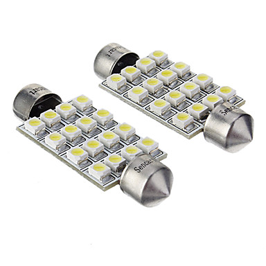 42mm Araba Ampul SMD 3528 16 LED Aksesuarlar For Genel motorlar