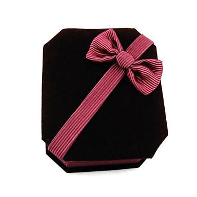 caixa de presente da jóia octagonal colar caixa de papel caixa de jóias pingente de veludo