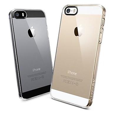 Svart Ring Transparent Hard PC dekke saken for iPhone 5/5S
