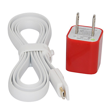 White 100cm Magnet Design Micro USB Cable and American Wire Gauge Charger for Samsung Cell Phones