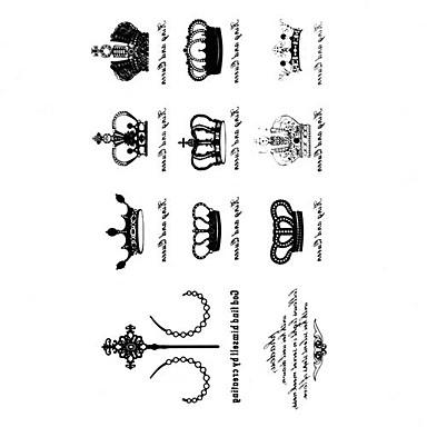 5 Szt Korona Wodoodporna Tymczasowe Tattoo 105cm 205cm Hm596