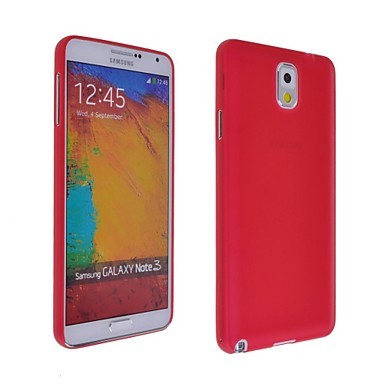 Pouzdro Uyumluluk Samsung Galaxy Samsung Galaxy Note Ultra İnce / Buzlu Arka Kapak Solid TPU için Note 3