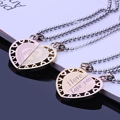 Персональный подарок Ожерелья Нержавеющая сталь Универсальные Деловые Классика Любовь Праздник Подарок