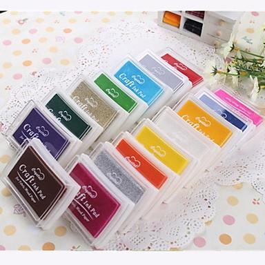 Karikatür Renkli Plastik Mürekkep Pad (4 Paket) (Rastgele Renk)