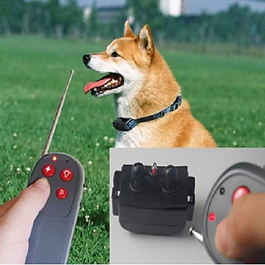 Köpek Bark Yaka / Köpek Eğitim Tasmaları / Eğitim anti Bark / Uzaktan Kontrol / Elektronik / Elektrik Solid Naylon Gri