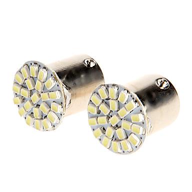 12V 1156 22SMD Motosiklet 2PCS için Yön Gösterge lambası / Yedekleme Işık Beyaz LED