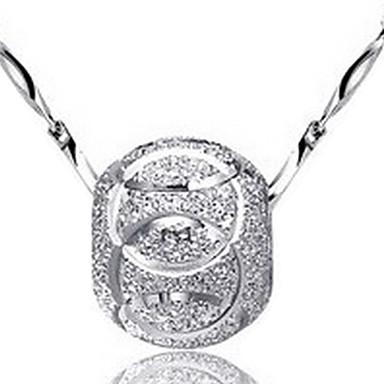 Mücevher Uçlu Kolyeler Parti / Günlük Gümüş Kaplama Kadın Gümüş Düğün Hediyeleri