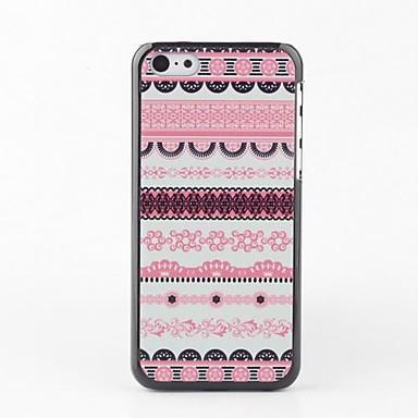 IPhone 5C için Pembe Çizgili Hard Case