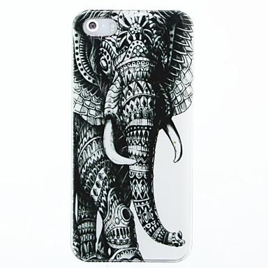 아이폰 5/5S를위한 왼쪽 코끼리 본 단단한 케이스 덮개를
