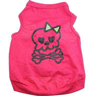 Cat Dog Shirt / T-Shirt Dog Clothes Skull Rose Cotton Costume For Pets Men's Women's Cute Halloween