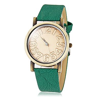 Women's Vintage Round Dial Pu Band Quartz Analog Wrist Watch Cool Watches Unique Watches