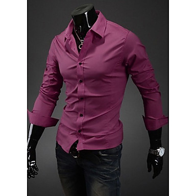 Camisa de manga larga para hombres adelgazan