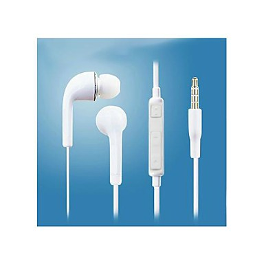White High Quality Sound In-Ear Earphone with Microphone and Control Volume for Samsung S3/S4/NOTE2/NOTE3