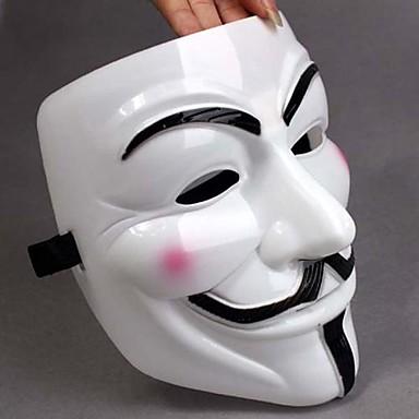Cadılar Bayramı Kostüm Partisi için Vendetta Tam Yüz Korkunç Cosplay alet için Beyaz Maske V kalınlaştırmak