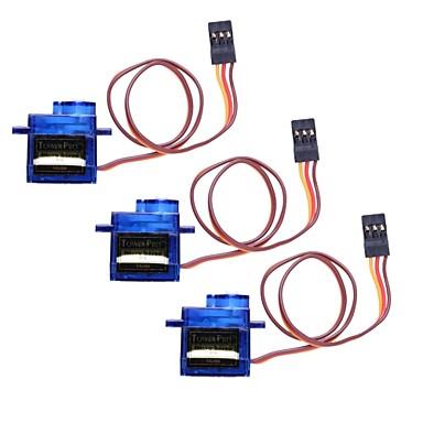 Mini Servo 9G com acessórios - azul translúcido (3 peças)
