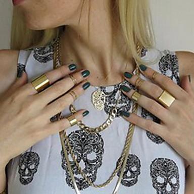 Kadın's - alaşım Avrupa Mücevher Altın / Gümüş Uyumluluk Parti Günlük 7