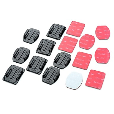 Adhesive Mounts Flat Adhesive Pads Curved Adhesive Pads For Action Camera Gopro 5/4/3/3+/2/1 Universal Auto Military Snowmobiling