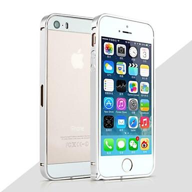 Pouzdro Uyumluluk iPhone 5 / Apple iPhone 5 Kılıf Şoka Dayanıklı Tampon Solid Sert Metal için iPhone SE / 5s / iPhone 5