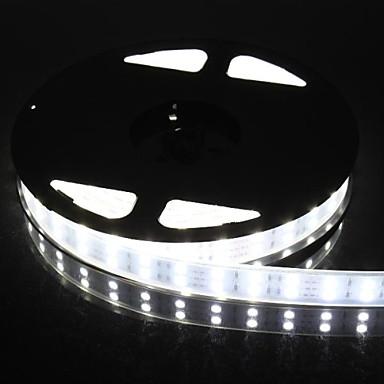 dublu rând 600x5050 smd 6000lm 144W IP67 impermeabil lumina benzi de lumină LED alb (5 metri 12v / dc)