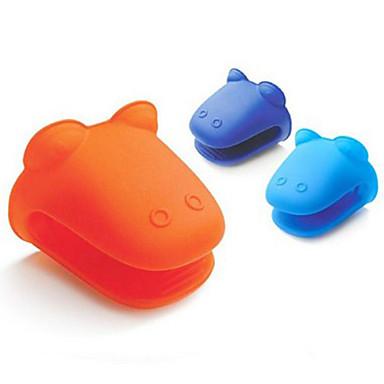 hippo kurbağa şekli silikon yalıtımlı eldiven fırın eldiveni