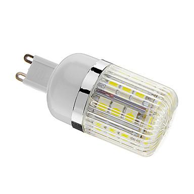 400 lm G9 LED Mısır Işıklar T 30 led SMD 5050 Kısılabilir Serin Beyaz AC 220-240V