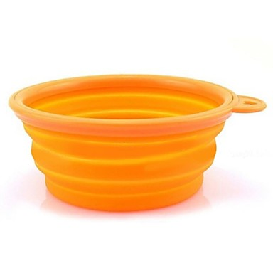 Cat Dog Bowls & Water Bottles Pet Bowls & Feeding Portable Foldable Yellow Rose Red Green Blue