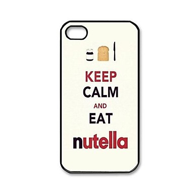 Keep Calm AND EAT Nutella Pattern Plastic Hard Case for iPhone 4/4S