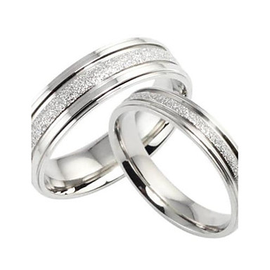 Women's Couple Rings / Band Ring - Titanium Steel Love Bridal 5 / 6 / 7 Silver For Wedding / Party / Gift