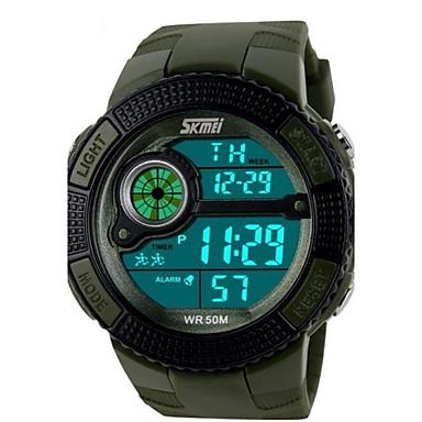 Bărbați Ceas digital Ceas Sport Quartz Piloane de Menținut Carnea Quartz Japonez Alarmă Calendar Cronograf Rezistent la Apă LED PU Bandă