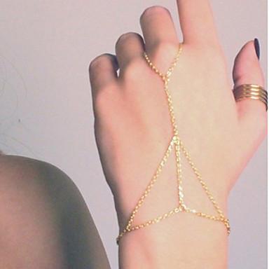 Kadın's Zincir & Halka Bileklikler Yüzük Bileklikler alaşım Mücevher Parti Günlük