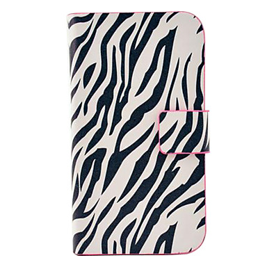 Zebra-Stripe Pattern PU Leather Case with Magnetic Snap and Card Slot for Samsung Galaxy S3 mini I8190
