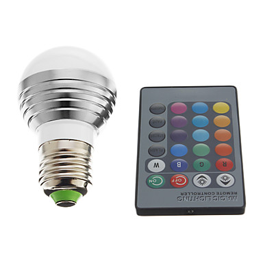 E26/E27 Bulb LED Glob 1 LED Putere Mare 240 lm RGB AC 220-240 V