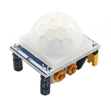 1 pcs haute qualité hcsr501 ajuster infrarouge pir module de détecteur de mouvement