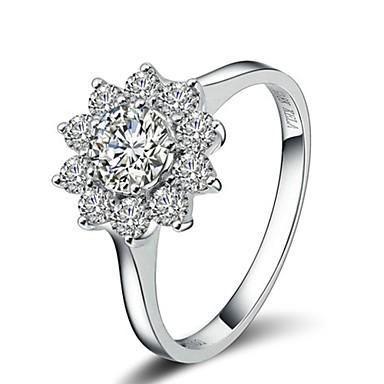 Kadın's Bildiri Yüzüğü - Kristal, Altın Kaplama Moda 6 / 7 / 8 Gümüş / Altın Uyumluluk Düğün / Parti / Günlük