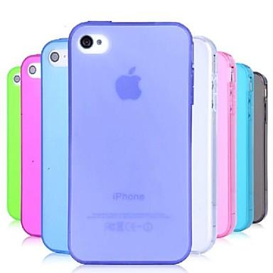 tpu toz iphone 4 / 4s için kanıt yumuşak kılıf (çeşitli renklerde)