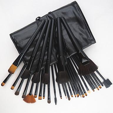 32pcs Makyaj fırçaları Profesyonel Fırça Setleri Keçi Kılı Fırça / Midilli Atı Fırça / Sentetik Saç Orta Fırça