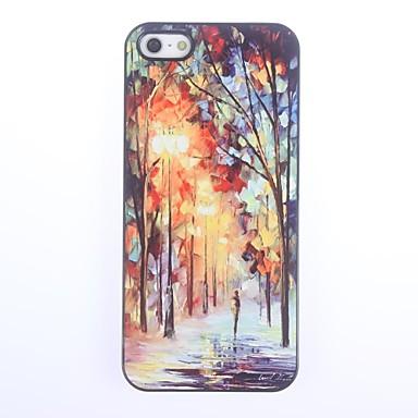 Pouzdro Uyumluluk iPhone 5 Apple iPhone 5 Kılıf Temalı Arka Kapak Manzara Sert PC için iPhone SE/5s iPhone 5