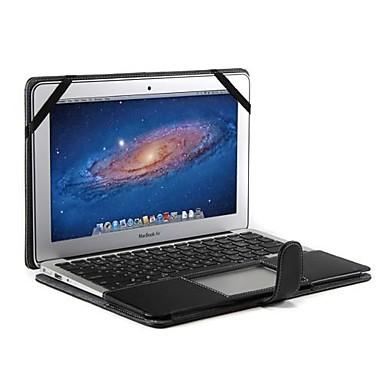 MacBook Kılıf için İş Tek Renk PU Deri MacBook Air 13-inç