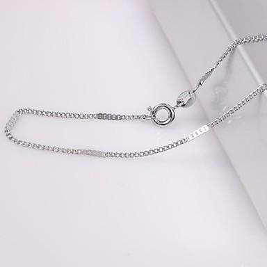 unisex 2mm gümüş zincir kolye no.18