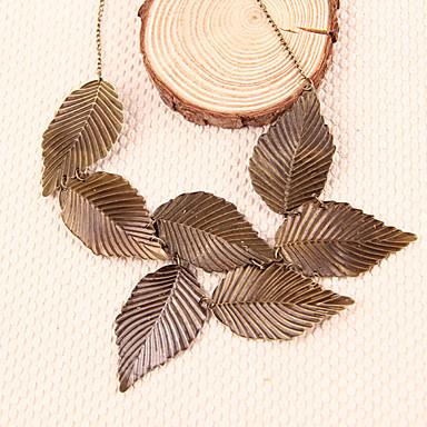 Femme Forme de Feuille Bijoux Fantaisie Pendentif de collier Colliers Déclaration Alliage Pendentif de collier Colliers Déclaration ,