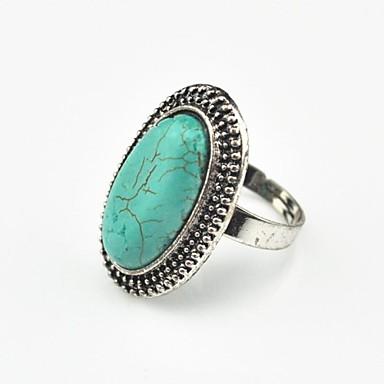 Pentru femei Turcoaz / Aliaj Inel de declarație - Circle Shape Personalizat / Vintage / Ajustabile Inel Pentru Petrecere / Cadou / Zilnic